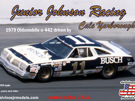 Salvinos JR Models 1/25 JJ Racing 1979 Oldsmobile ® 442 Driven By Cale Yarborough (SALJ1979D)