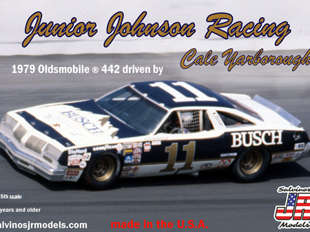 Salvinos JR Models 1/25 JJ Racing 1979 Oldsmobile ® 442 Driven By Cale Yarborough (SALJ1979D)