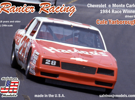 Salvinos JR Models 1/25 Ranier Racing Monte Carlo 1984 Winner Cale Yarborough (SAL1984)