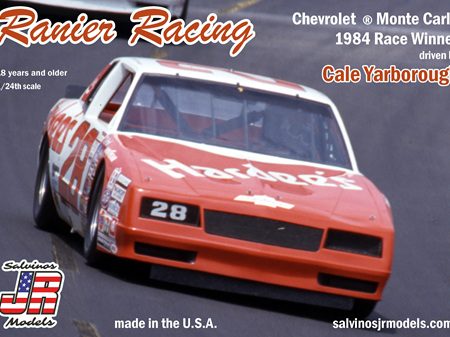 Salvinos JR Models 1/25 Ranier Racing Monte Carlo 1984 Winner Cale Yarborough