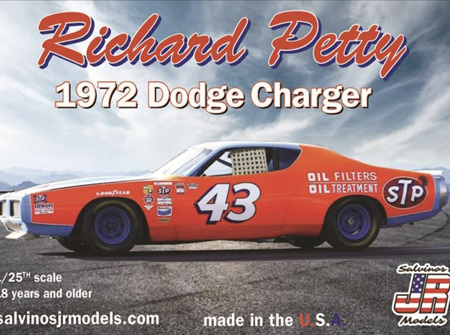 Salvinos JR Models 1/25 Richard Petty 1972 Dodge Charger (RPDC1972TX)