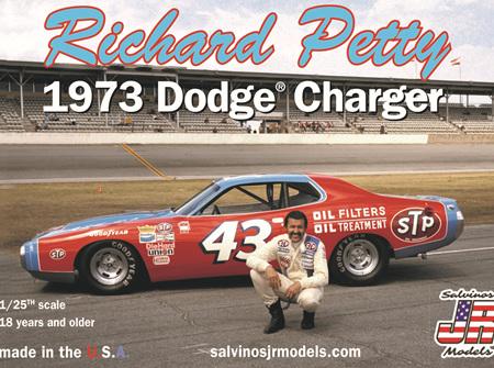 Salvinos JR Models 1/25 Richard Petty 1973 Dodge Charger (RPDC1973D)