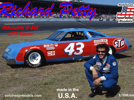 Salvinos JR Models 1/25 Richard Petty 1979 Daytona Winning Olds 442 (SAL1979)