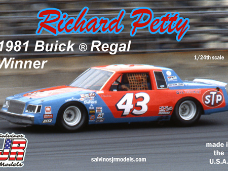 Salvinos JR Models 1/25 Richard Petty 1981 Winner Buick Regal (SALRPB1981D)