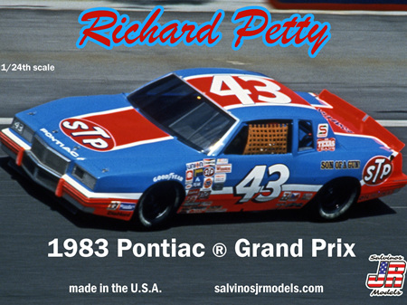 Salvinos JR Models 1/25 Richard Petty 1983 Talladega Winner (RPGP1983T)