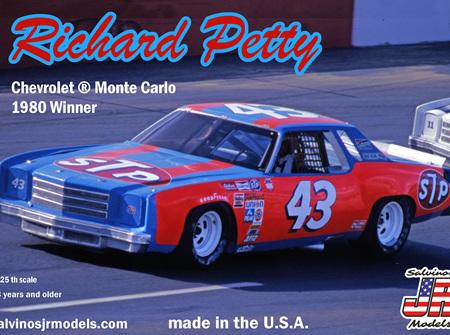 "Salvinos JR Models 1/25 Richard Petty Chevy Monte Carlo ""STP # 43"" 1980 Nashville Winner (SAL1980N)"