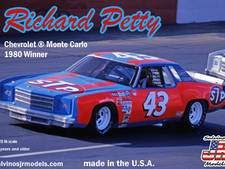 "Salvinos JR Models 1/25 Richard Petty Chevy Monte Carlo ""STP # 43"" 1980 Nashville Winner (SAL1980N)"