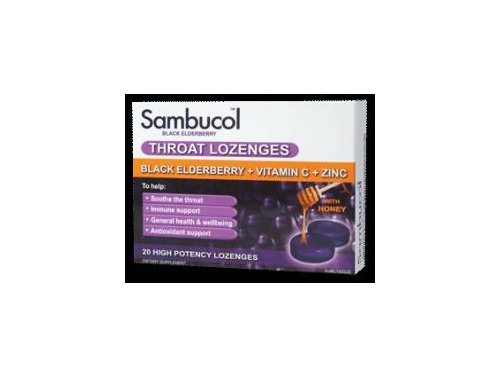 SAMBUCOL THROAT LOZENGES 20