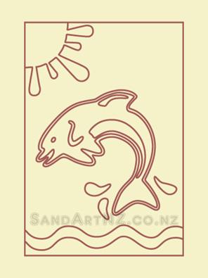 SanART NZ, wildlife, jumping dolphin, summer fun