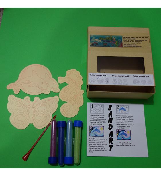 Sandart Fridge magnet packs kits