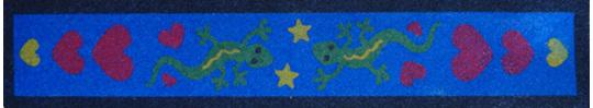 SandArt Gecko Bookmark
