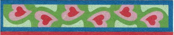 SandArt Hearts Bookmark