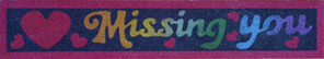 SandArt Missing You Bookmark