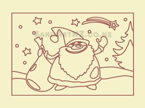 SandART NZ - Christmas Cards, Christmas Tree, Postcards, Santa, Santa with Sack