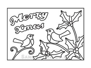 CP10 - Christmas Birds on Holly