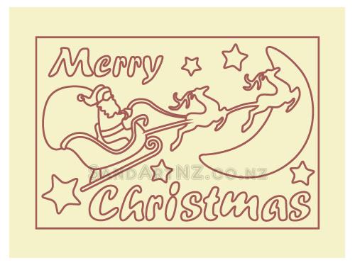 SandART NZ - Christmas Cards, Christmas Tree, Postcards, Santa Sleigh