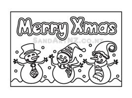 CP13 - Christmas Snowmen Celebrating the Season