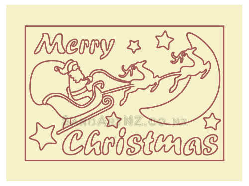 SandART NZ - Christmas Cards, Christmas Tree, Postcards, Santa Sleigh