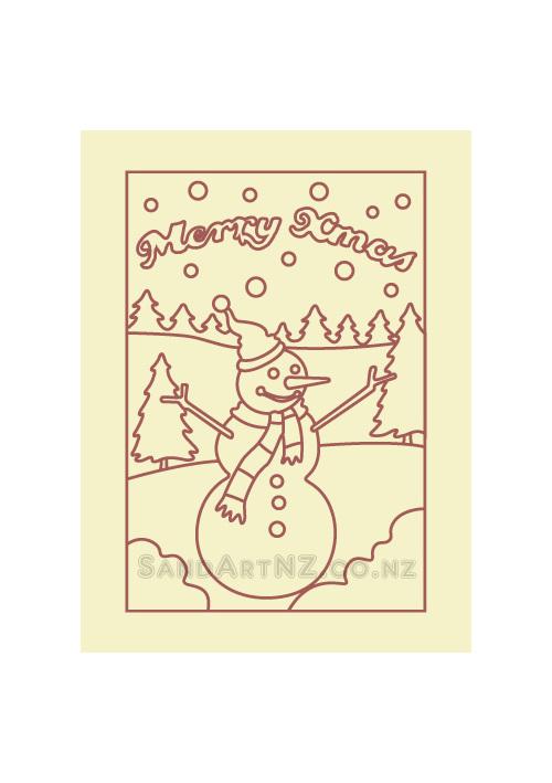 SandART NZ - Christmas Cards, Christmas Tree, Postcards, snowmen, snowman