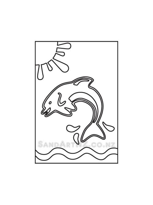 SandArt, NZ, Wildlife, Dolphin Jumping