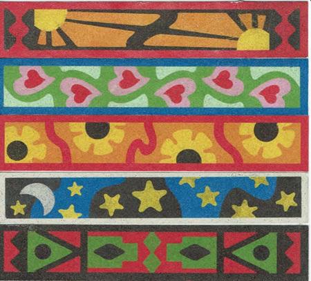 SandArt Set of 5  Bookmarks