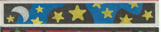 SandArt Stars & Moon bookmark