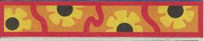 SandArt Sunflowers bookmark