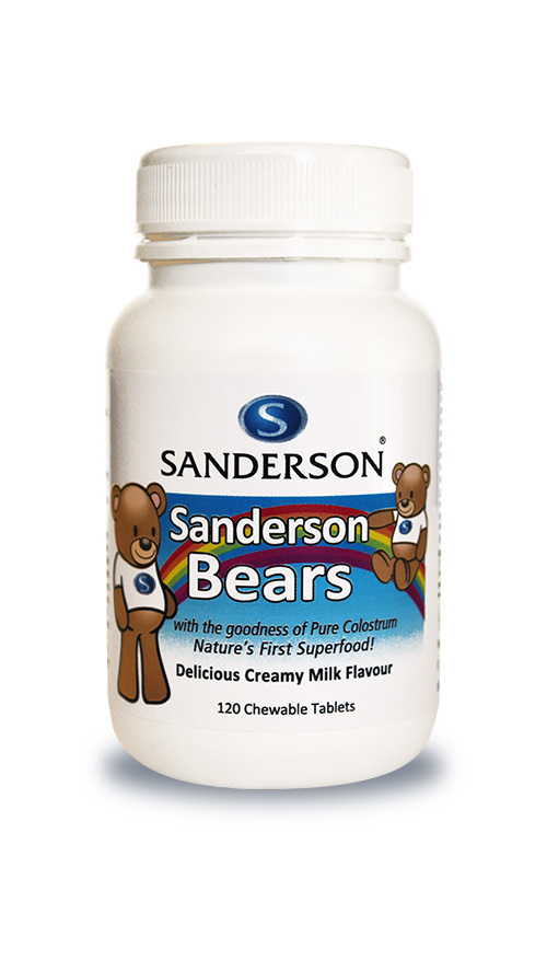 Sanderson Bears - Delicious Milk Flavoured Chewable Colostrum - 120 Tablets