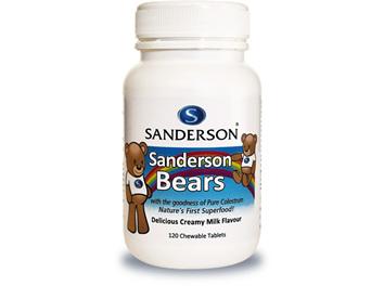 Sanderson Bears - Delicious Milk Flavoured Chewable Colostrum - 120 Tablets