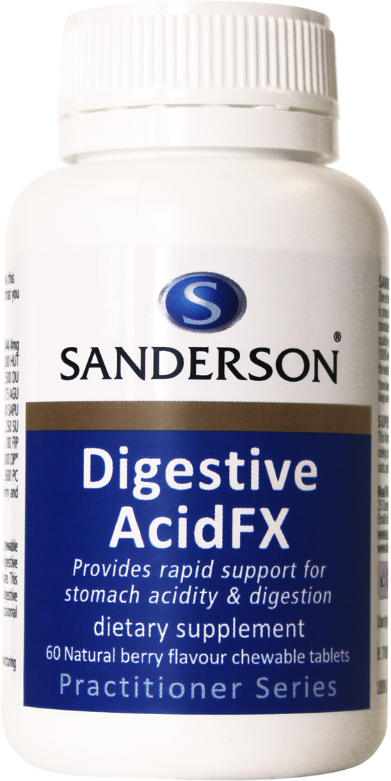 Sanderson™ Digestive Acid FX - 60 Chewable Tablets