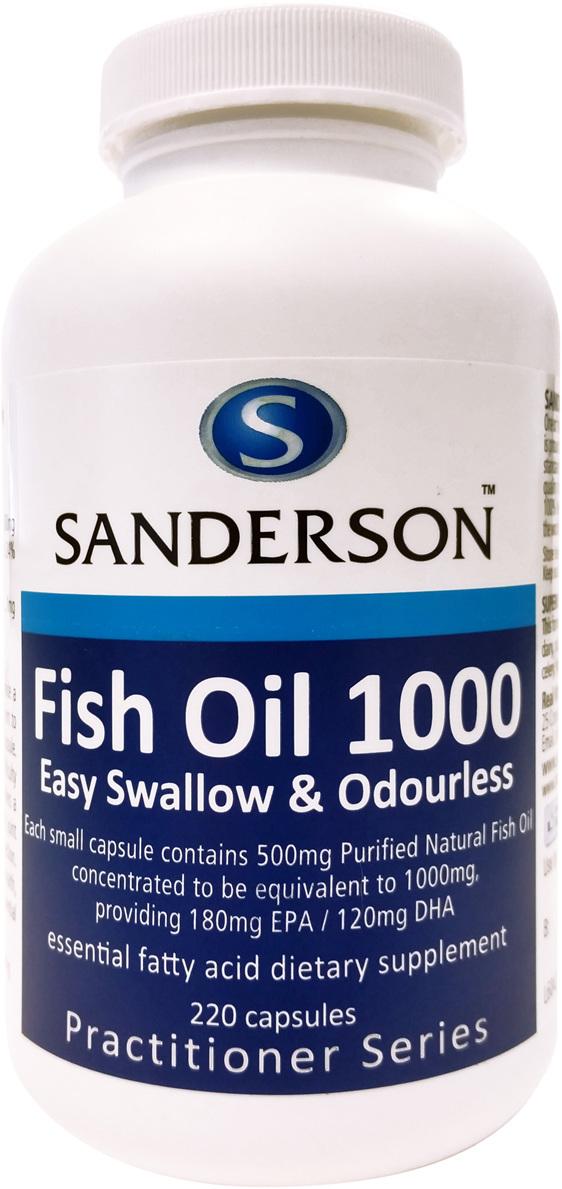 Sanderson™ Fish Oil 1000 - 220 Capsules