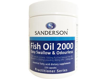 Sanderson™ Fish Oil 2000 - 220 Capsules