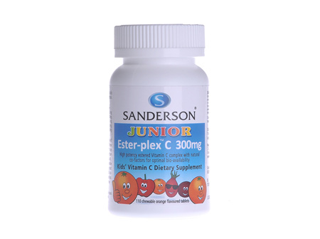 Sanderson™ Junior Ester-Plex® Chewable Vitamin C 110 Tablet Pack
