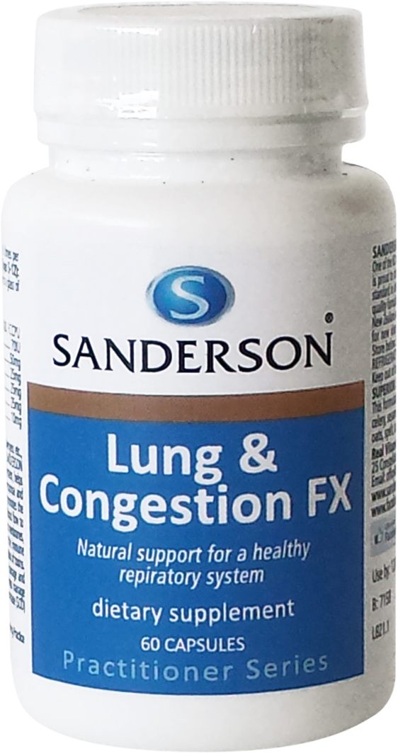 Sanderson Lung & Congestion FX - 60 Caps