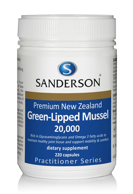 Sanderson NZ Green-Lipped Mussel 20,000 220 capsules