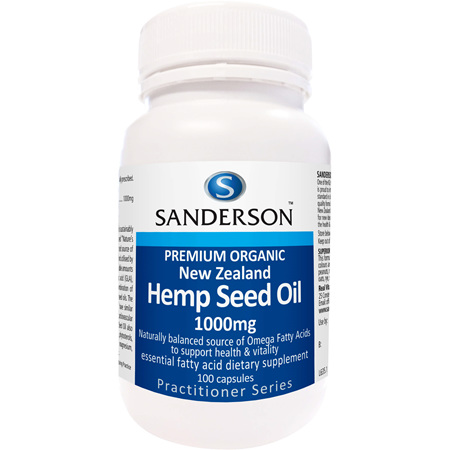 Sanderson NZ Organic Hemp Seed Oil 1000Mg 100 caps