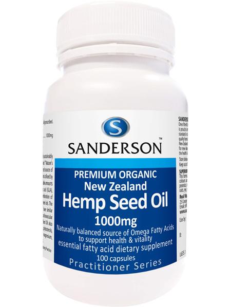 Sanderson NZ Organic Hemp Seed Oil 1000Mg 100 caps
