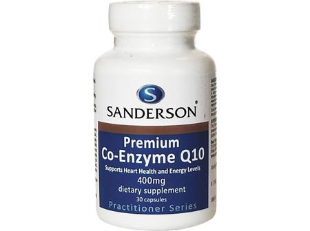Sanderson® Premium Co-Enzyme Q10 400Mg - 30 Capsules