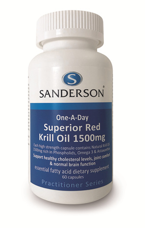 Sanderson™ Superior Red Krill Oil 1500Mg - 60 Capsules