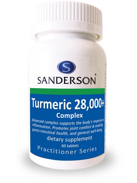 Sanderson Turmeric 28,000+ Complex - 60 Tabs
