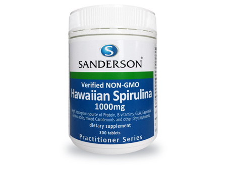 Sanderson™ Verified Non-GMO Hawaiian Spirulina 1000Mg 300 Caps