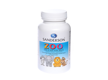 Sanderson® Zoo One-A-Day Kid'S Multi - 90 Chewable Tablets