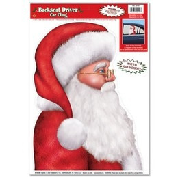 Santa - Backseat Driver Car Cling