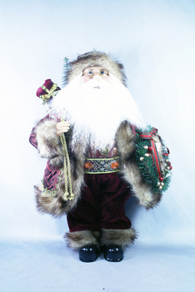 Santa  - burgandy & brown