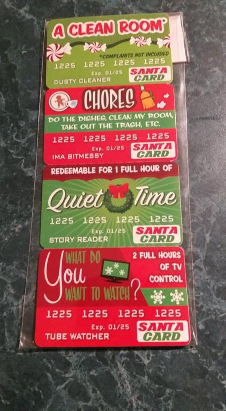 Santa Debit Card 4pk