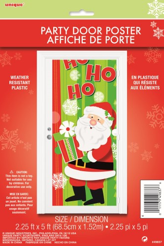 Santa door poster.