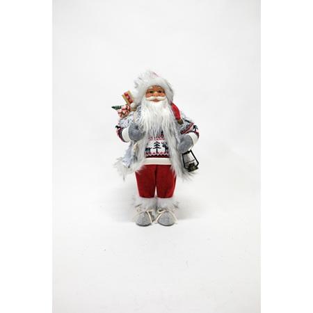 Santa grey vest red pants 46cm