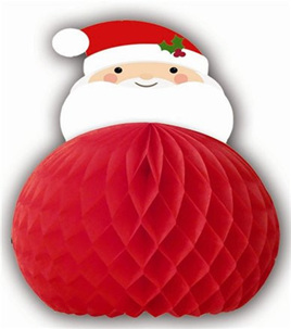 Santa Hanging Decoration Honeycomb