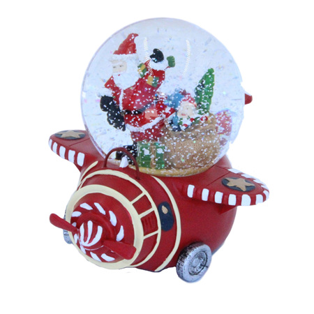 Santa in a plane waterball