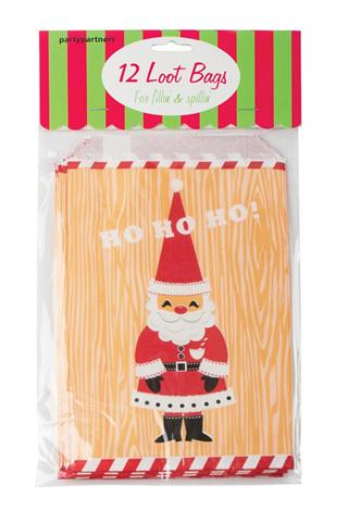 Santa Loot Bags - Pack of 12